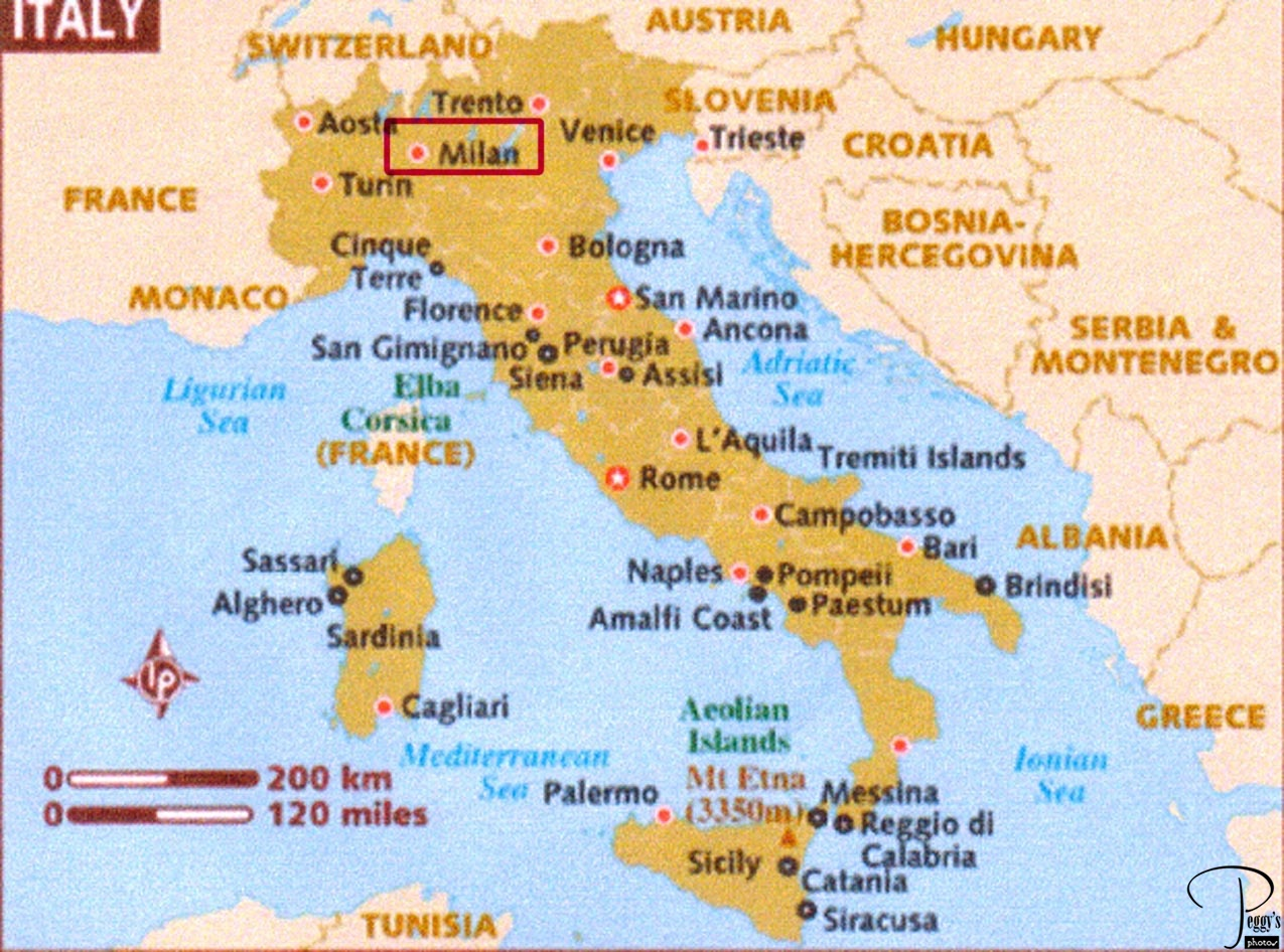 map of italy. days  milan  peggy's photos